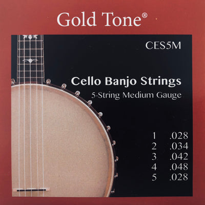 Gold Tone CES5M Medium Banjo Cello Strings
