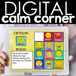Calm Corner Digital Activity for SEL Distance Learning: Coping Skills Activities