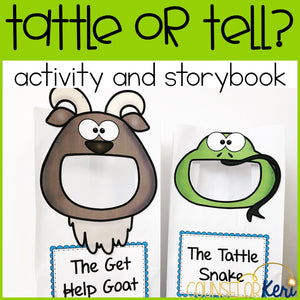 Tattling Activity Sort and Story Book for Elementary School