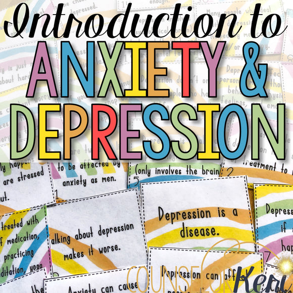 Depression and Anxiety Classroom Guidance Lesson Activities