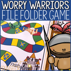 Worry Warriors Counseling Game: Worry Activities File Folder Game
