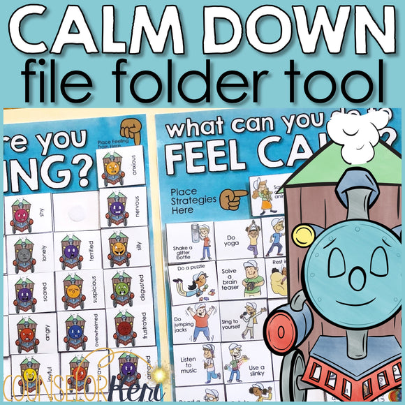 Calm Down Corner Self Regulation Lap Book: Label Feelings & Calming Strategies
