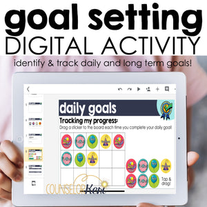 Goal Setting Digital Activity for Google Classroom Distance Learning
