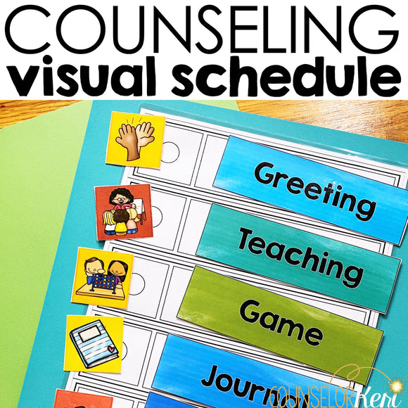 Counseling Visual Schedules for Classroom Guidance and Group Routines