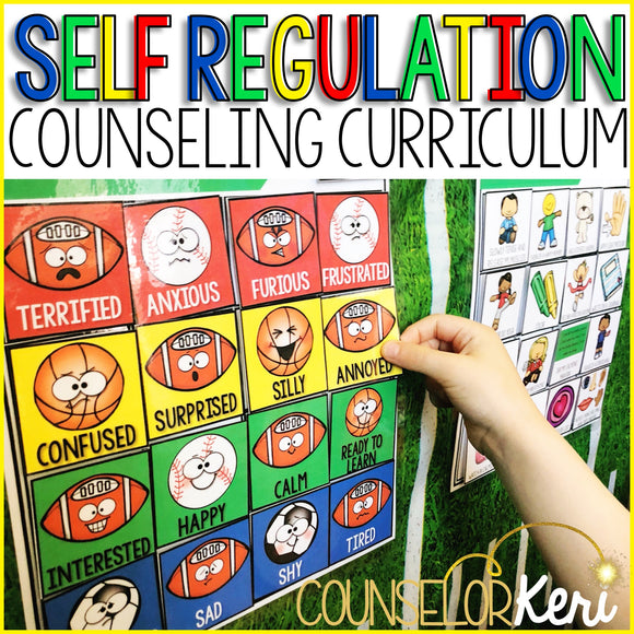 Self Regulation Curriculum: Self Regulation Activities for School Counseling