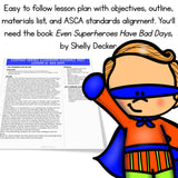 Superhero Behavior Classroom Guidance Lesson Book Companion Activity