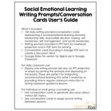 Social Emotional Learning SEL Writing Prompts and Conversation Starters
