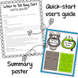 Tattling Activity Sort and Story Book for Elementary School Counseling
