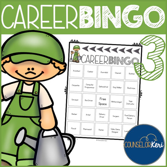 career exploration career bingo 3 elementary career education school rh shop counselorkeri com school counselling clipart school counselor clip art free