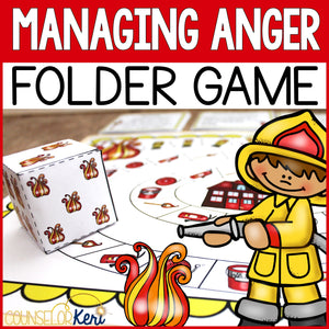 Managing Anger Folder Game for Elementary School Counseling Anger Management