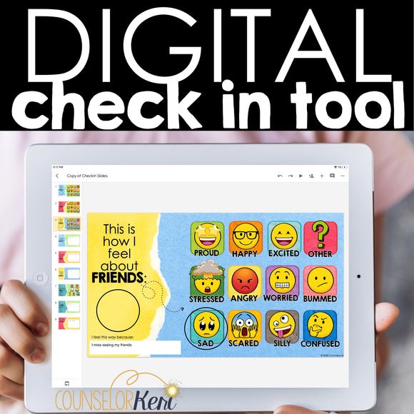 School Counseling Check In Digital Activity Distance Learning