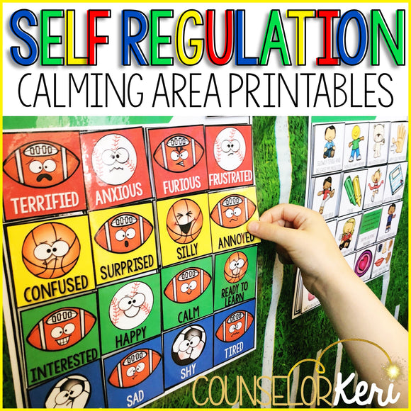 Calm Down Area Printables: Self Regulation Calm Down Kit