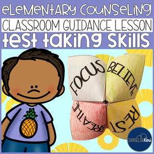 Test Preparation Scoot Classroom Guidance Lesson for Elementary Counseling