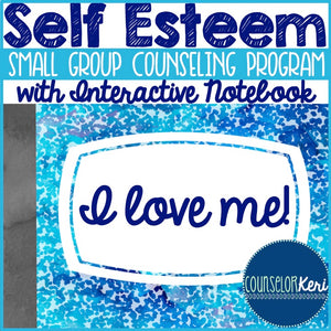 Self Esteem Group Counseling Program with Interactive Notebook