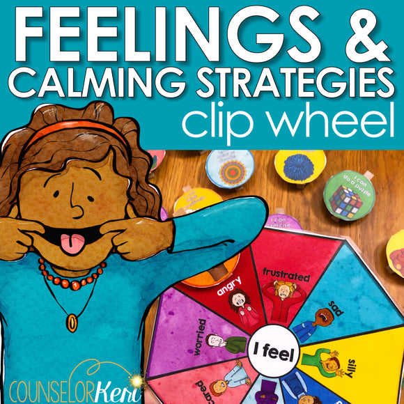 Calm Corner Clip Card: Identify Feelings & Choose Calming Strategies