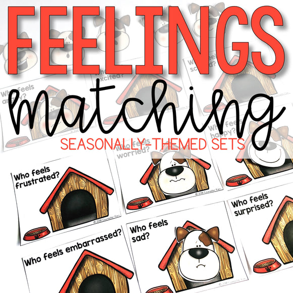 Feelings Activities: Matching Sets for Centers and Emotion Identification