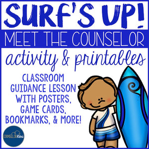 Meet the Counselor Classroom Guidance Lesson Activity Pack School Counseling