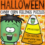 Halloween Activity Candy Corn Feelings Puzzles Emotions Puzzle School Counseling