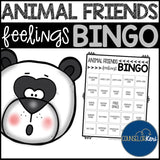 Animal Feelings BINGO Game for School Counseling