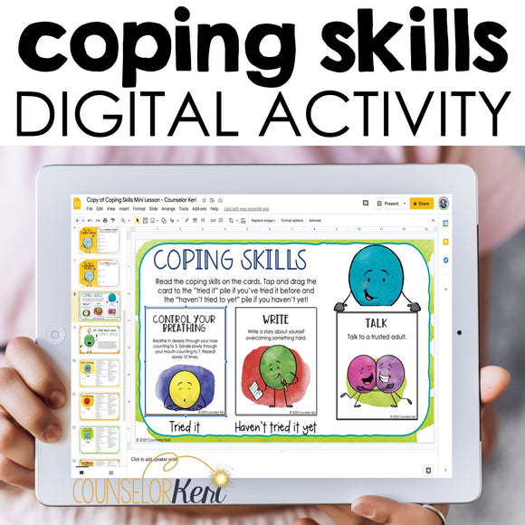 Coping Skills Digital Activity for Google Classroom Distance Learning