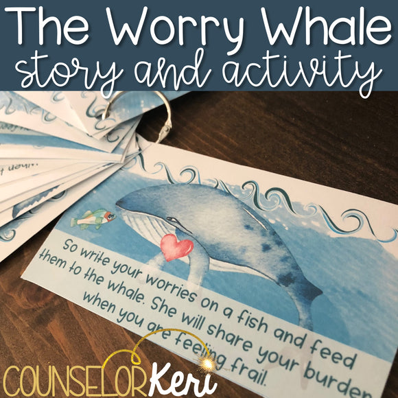 Worry Activity: Worry Story & Activity for School Counseling