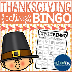 Thanksgiving Feelings Bingo Game - Elementary School Counseling