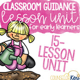 Gardening Themed Kindergarten Classroom Guidance Lesson Bundle Unit for Elementary School Counseling