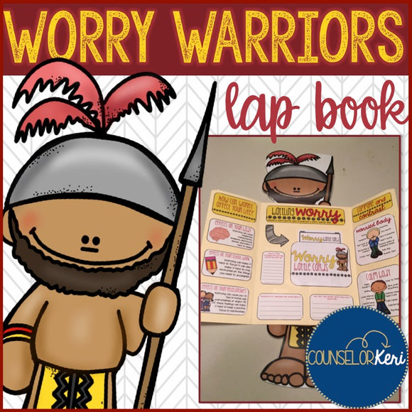 Worry/Anxiety Management Lap Book for Elementary School Counseling
