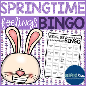 Springtime Feelings Bingo Game - Emotions - Elementary School Counseling