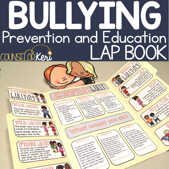 Bullying Lap Book: Bullying Prevention Activity for Elementary School Counseling