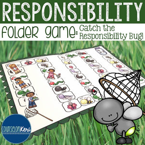 Responsibility Folder Game: Responsibility Activity for Elementary School Counseling