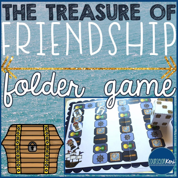 Making Friends File Folder Game for Elementary School Counseling