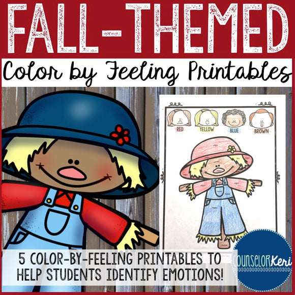 Fall Color-by-Feeling Printables - Elementary School Counseling
