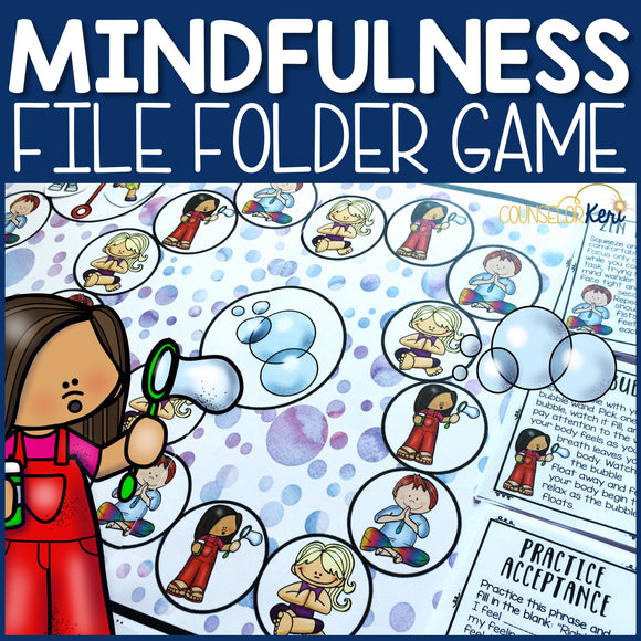 Mindfulness File Folder Game: Mindfulness Activity for School Counseling