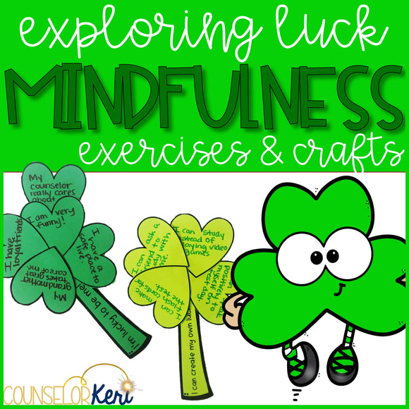 St. Patrick's Day Mindfulness Activity and St. Patrick's Day Craft