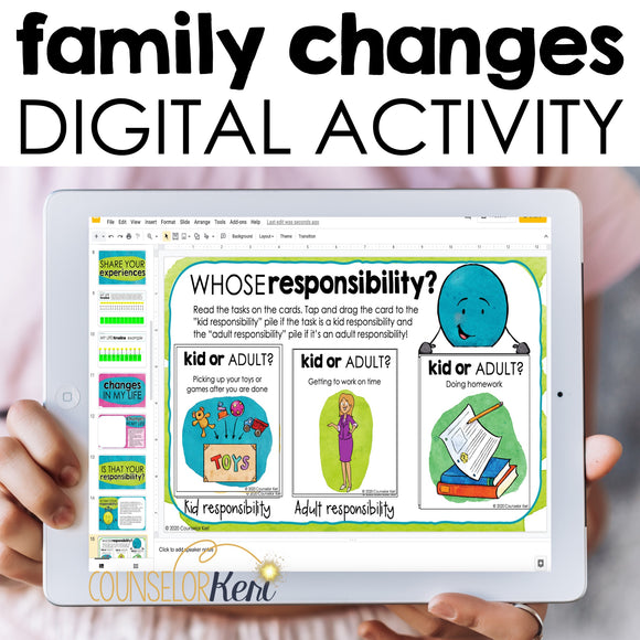Family Changes Digital Activity for Google Classroom Distance Learning