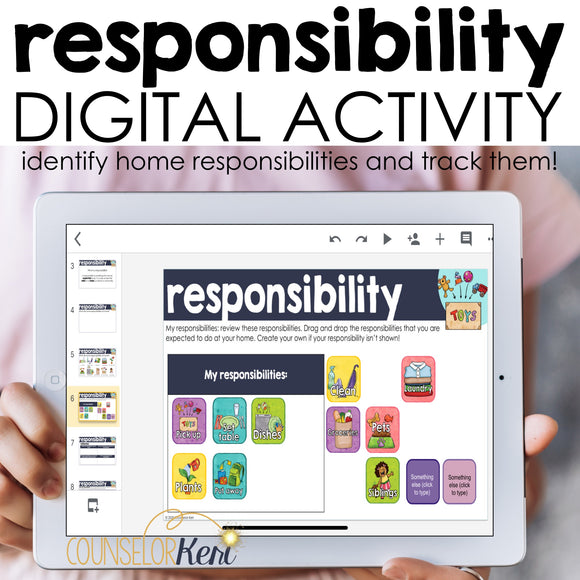 Responsibility Digital Activity for Google Classroom Distance Learning