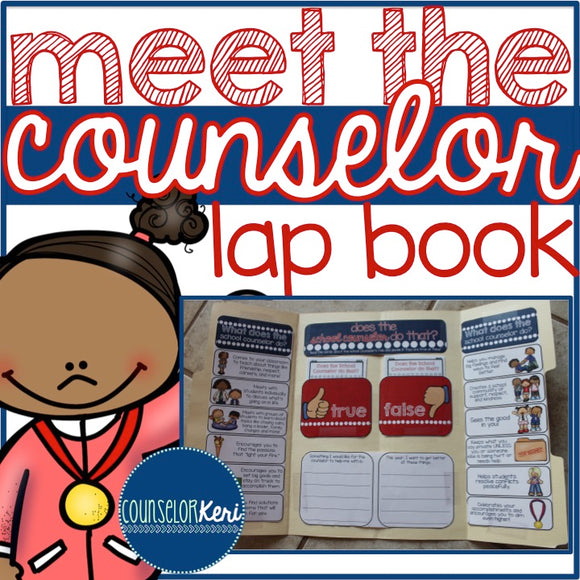 Meet the Counselor Lap Book for Elementary School Counseling