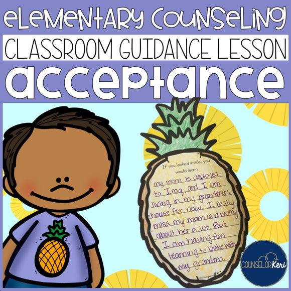 Acceptance Classroom Guidance Lesson for Elementary School Counseling