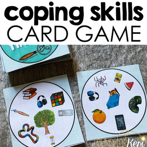 Coping Skills Counseling Game: Finding Calming Strategies Activity