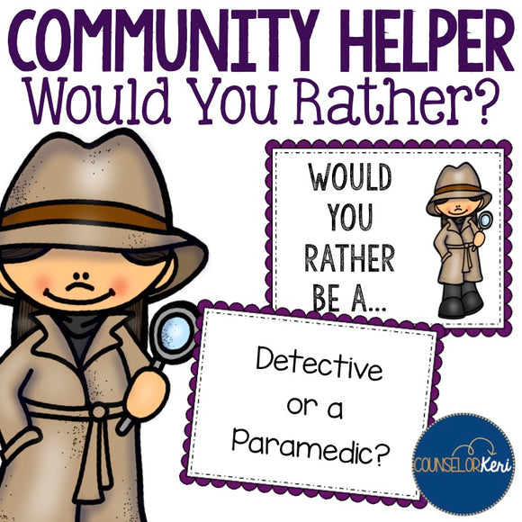 Community Helper Would You Rather? Game for Career Education - School Counseling