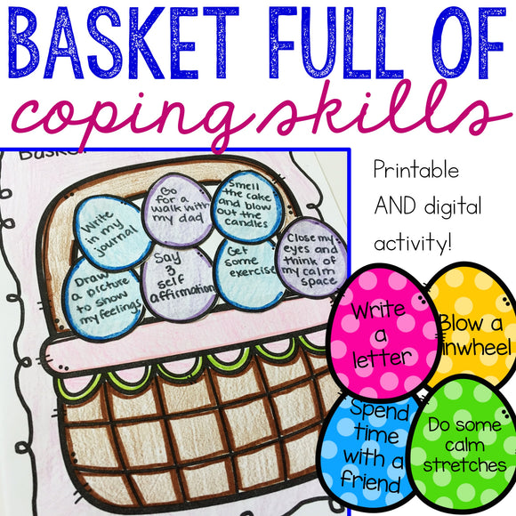 Easter Coping Skills Printable and Digital Activity for School Counseling