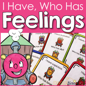 Feelings Game: I Have Who Has Counseling Game to Practice Identifying Emotions