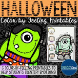 Halloween Color-by-Feeling Printables - Elementary School Counseling