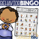 Behavior Bingo Game for Elementary School Counseling