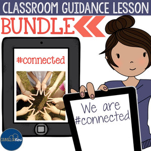 Technology and Social Media Themed Classroom Guidance Lessons Bundle Unit for Upper Elementary or Middle School Counseling