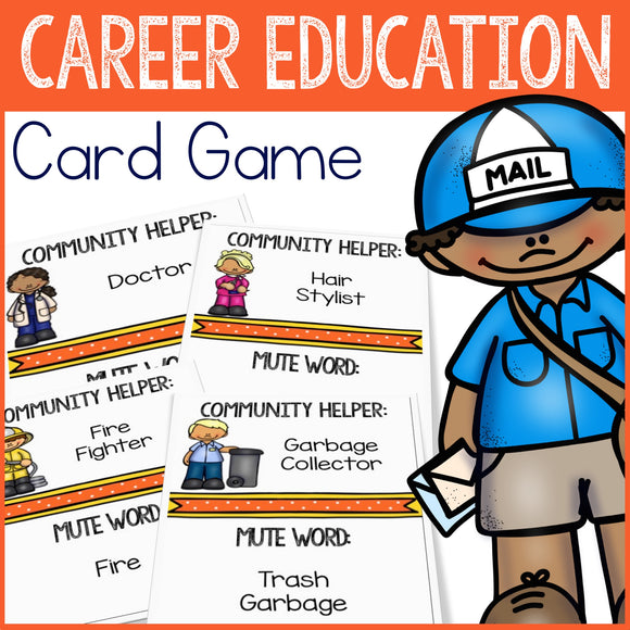 Community Helpers Career Education Game Counseling Game