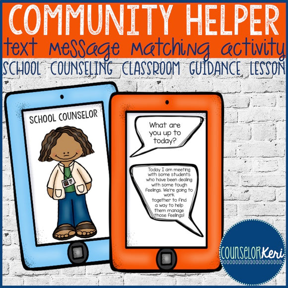 Career Text Message Matching Classroom Guidance Lesson - School Counseling