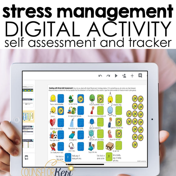 Stress Management Digital Activity for Google Classroom Distance Learning
