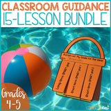 Beach Themed Classroom Guidance Lesson Bundle Unit for Elementary School Counseling